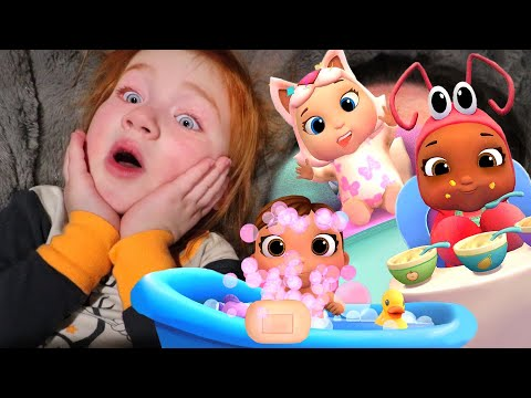ALL MY BABIES!! Adley App Reviews THE MOVIE | baby animal doctor | 1 HOUR playing games with family!