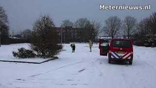 Blazer bij bedrijf in Farmsum besmet sneeuw