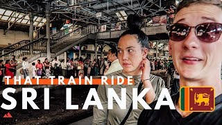 CRAZY $1.45  Sri Lanka Train Ride ! Colombo To Weligama |🇱🇰🚂