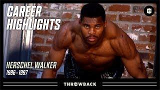 "Herschel Walker's ""physical Freak"" Career Highlights! | Nfl Legends"