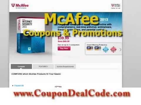 McAfee Coupon - McAfee.com Coupon Code, Promo Codes