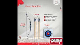 Busur Panah R30 Pemula dan anak Bonus 5 Anak Panah dan Print Target