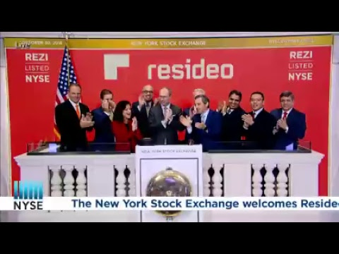 Resideo Technologies (NYSE: REZI) rings the NYSE Opening