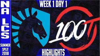 Video TL vs 100 Highlights | NA LCS Summer 2018 Week 1 Day 1 | Team Liquid vs 100 Thieves download MP3, 3GP, MP4, WEBM, AVI, FLV Juni 2018