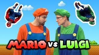 Mario VS Luigi Parkour In Real Life (Super Mario Bro U Deluxe)