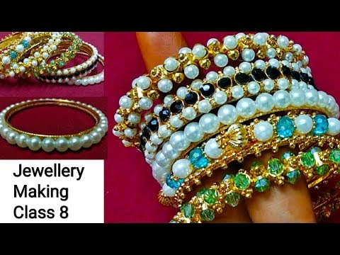 Jewellery Making Class 8 / Pearl Bangle / Handmade Jewelry / Jewellery Making DIY/ Shabna's Designs