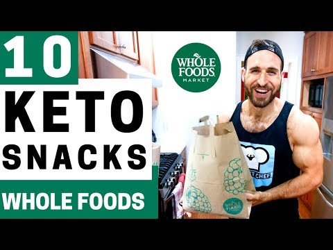 10 KETO SNACKS AT WHOLE FOODS | Best Low Carb ON THE GO Keto Snack Ideas At Whole Foods