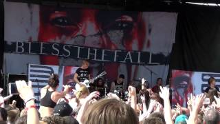 Blessthefall 40 Days Live At Warped Tour Chicago 2013