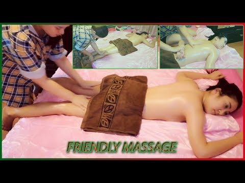 Asian Beauty Friendly Massage Aromatherapy Oil Skin Back and legs for Relax EP. 8-15