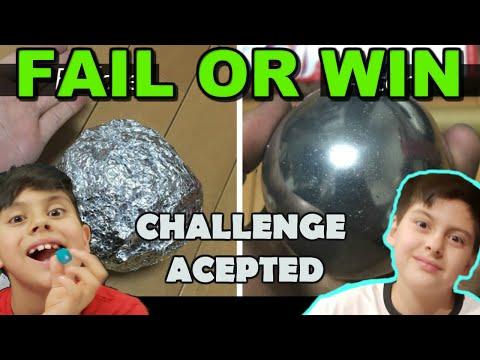 ALUMINUM FOIL BALL CHALLENGE.     FAIL OR WIN?????????