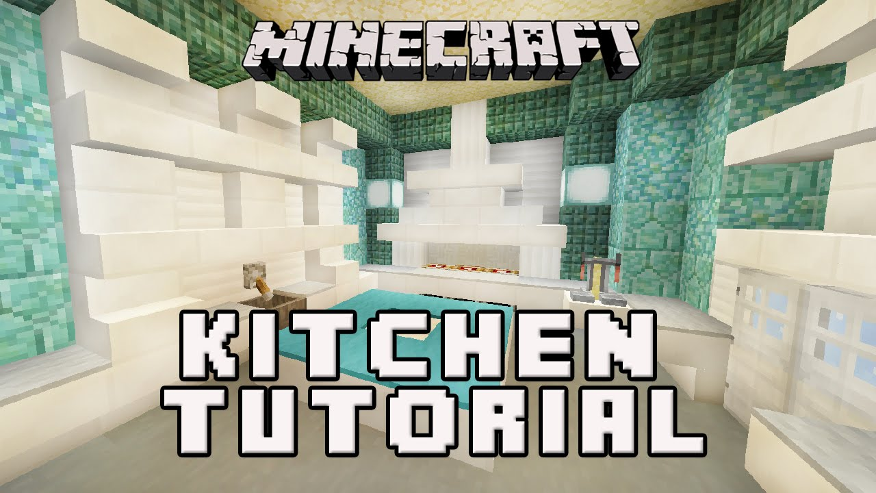 minecraft interior design kitchen minecraftl how to make a kitchen coral house build part 20614