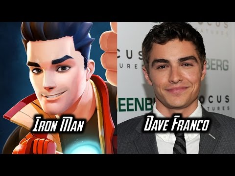 Characters and Voice Actors - Marvel's Avengers Academy (Part 1)