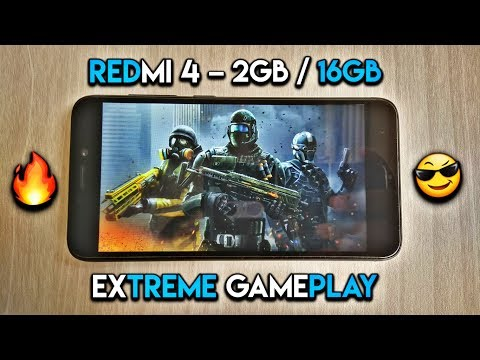 Redmi 4 ( 2GB RAM ) - Extreme Gaming Review / Gaming Test with Battery Performance and Heating Check