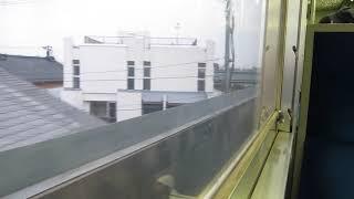 JR東日本115系「弥彦線」吉田行きが東三条駅を発車(車内より)