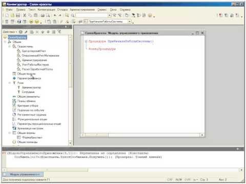 Константы, основы клиент-серверного программирования, общие реквизиты