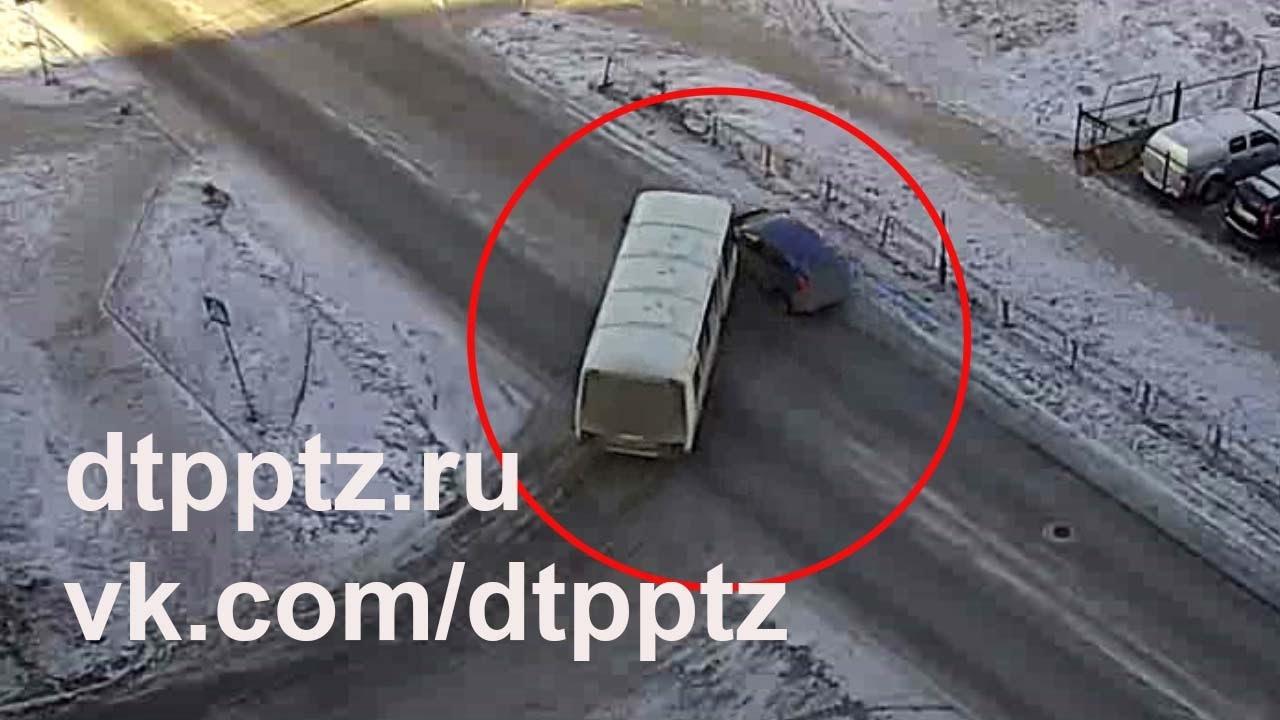 Автобус VS легковой автомобиль