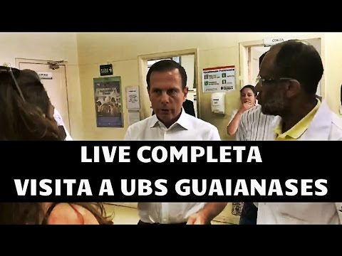LIVE COMPLETA - Prefeito João Doria Jr. em visita surpresa a UBS de Guaianases - 01/03/2017