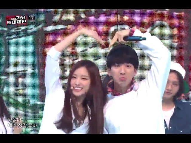 [가요대제전] B1A4 + Apink - Love song 메들리, 비원에이포 + 에이핑크 - 러브송 메들리, KMF 20131231