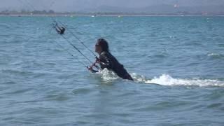 Mallorca kitesurfing lessons 2016 Natalia bodydrag