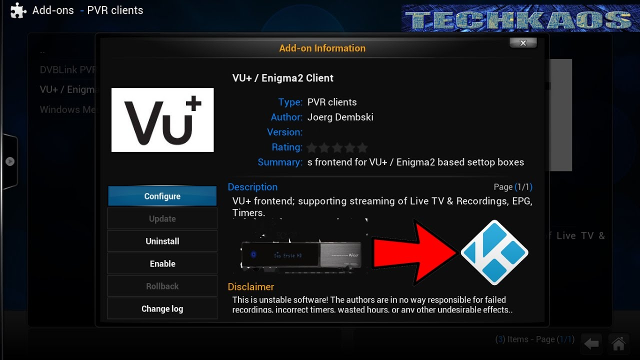 How To Set Up Vu/ Enigma2 Client In Kodi