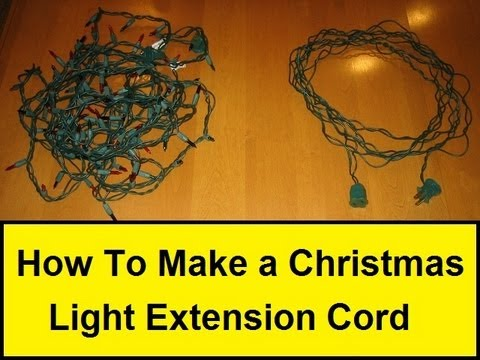 How To Make a Christmas Light Extension Cord (HowToLou.com)  sc 1 st  YouTube : how to extend wiring for lights - yogabreezes.com