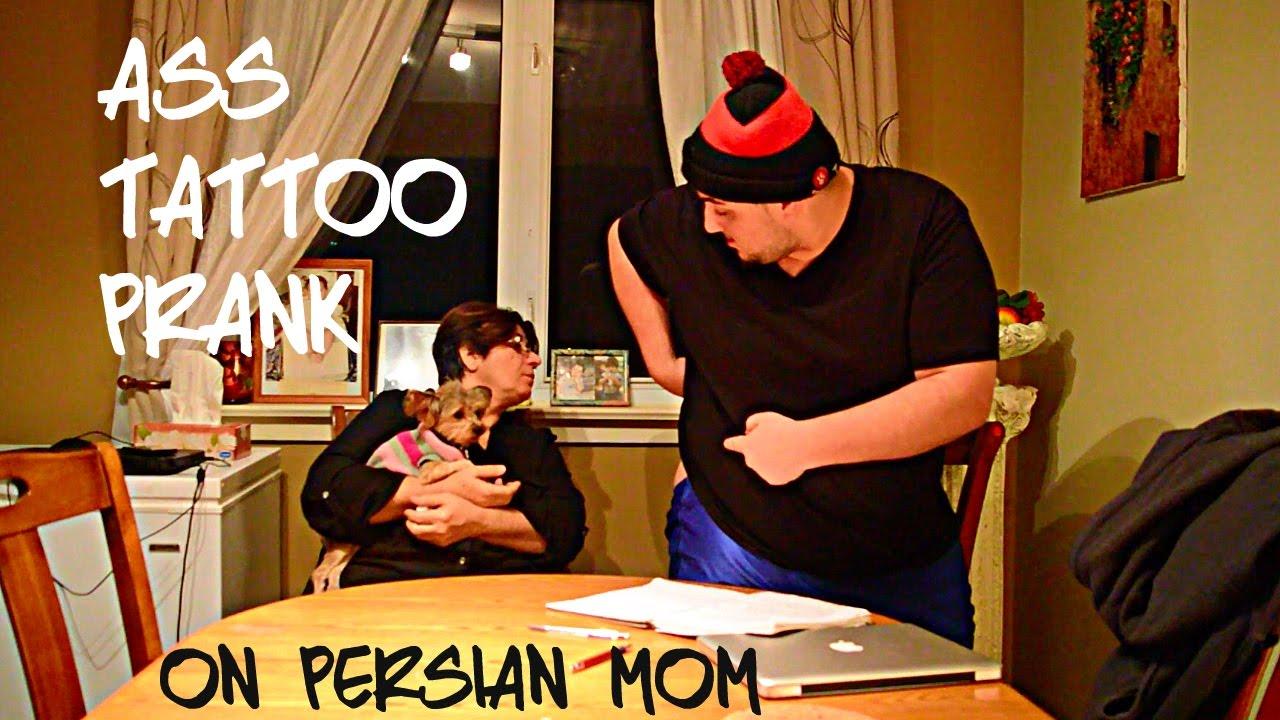 ass tattoo prank on persian mom!! - youtube