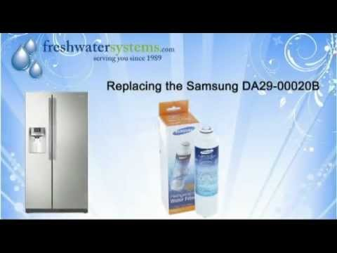 how to replace the samsung da2900020b water filter youtube