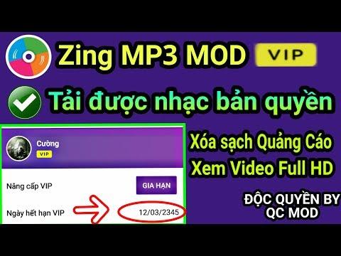 Update Zing MP3 MOD tài khoản Vip tải được nhạc bản quyền & Xem video 1080P và xóa ADS