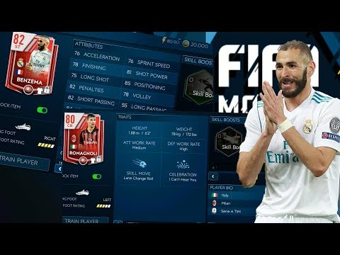 The Best FIFA Mobile 19 Attacking Trait and Defender! Player Reviews ep1 - Benzema and Romagnoli