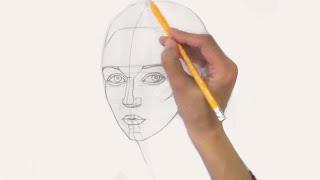 Уроки рисования. Как нарисовать ЛИЦО ЧЕЛОВЕКА карандашом - Art School(Видео урок как нарисовать ЛИЦО ЧЕЛОВЕКА карандашом. ▻ Скачайте видео урок