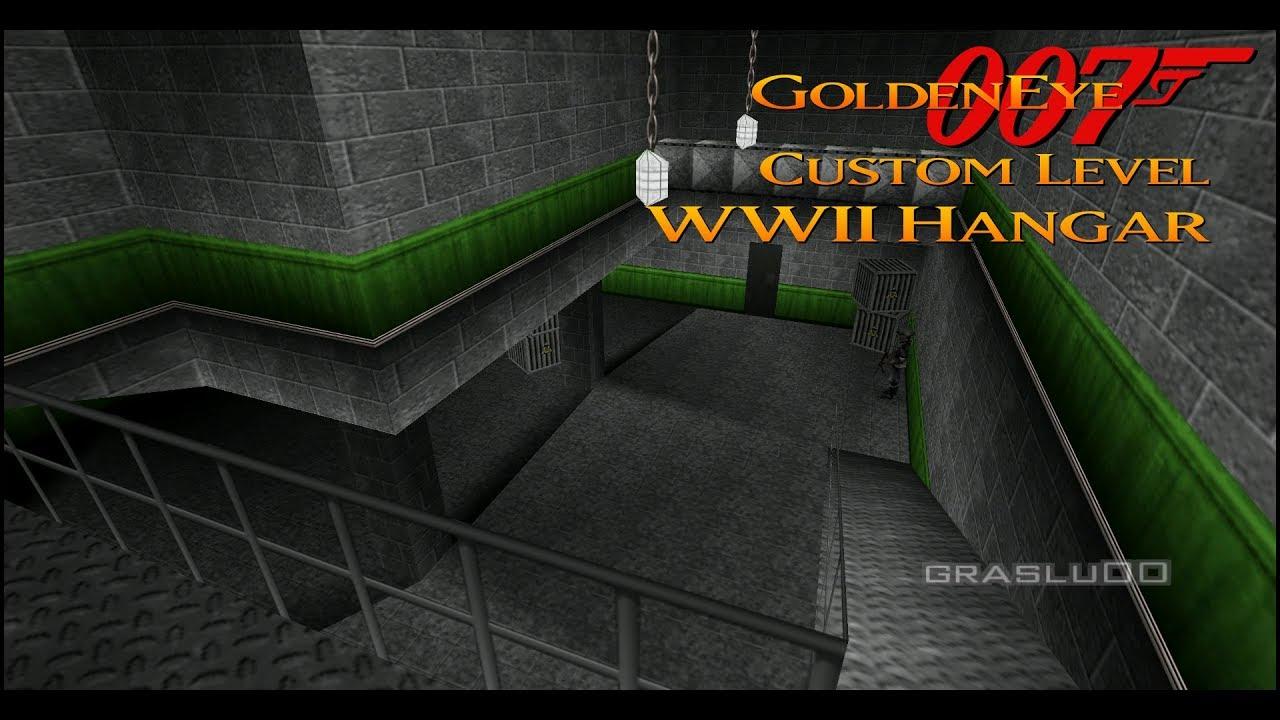 GoldenEye 007 N64 - WW2 Hangar - 00 Agent (Custom level)