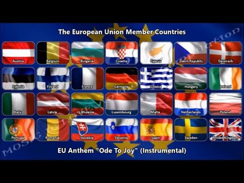 """European Union Anthem """"Ode To Joy"""" (instrumental) and Flags of Members (Remake)"""