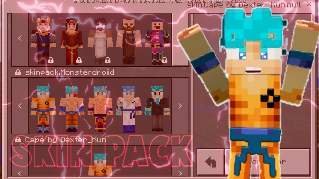 Skin De Minecraft De Goku Full HD Pictures K Ultra Full - Skins para minecraft pe de goku