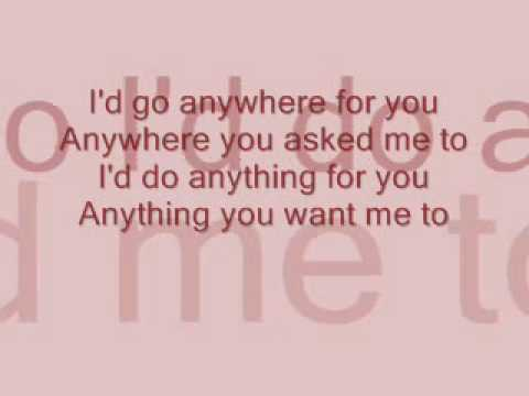 Anytime. Anyplace. Anywhere Lyrics