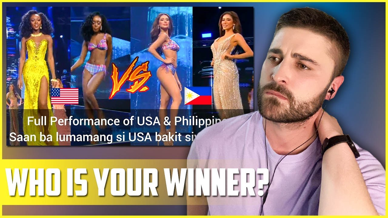 WHO IS YOUR WINNER? Miss USA vs. Miss Philippines | Grand International Coronation Night | REACTION
