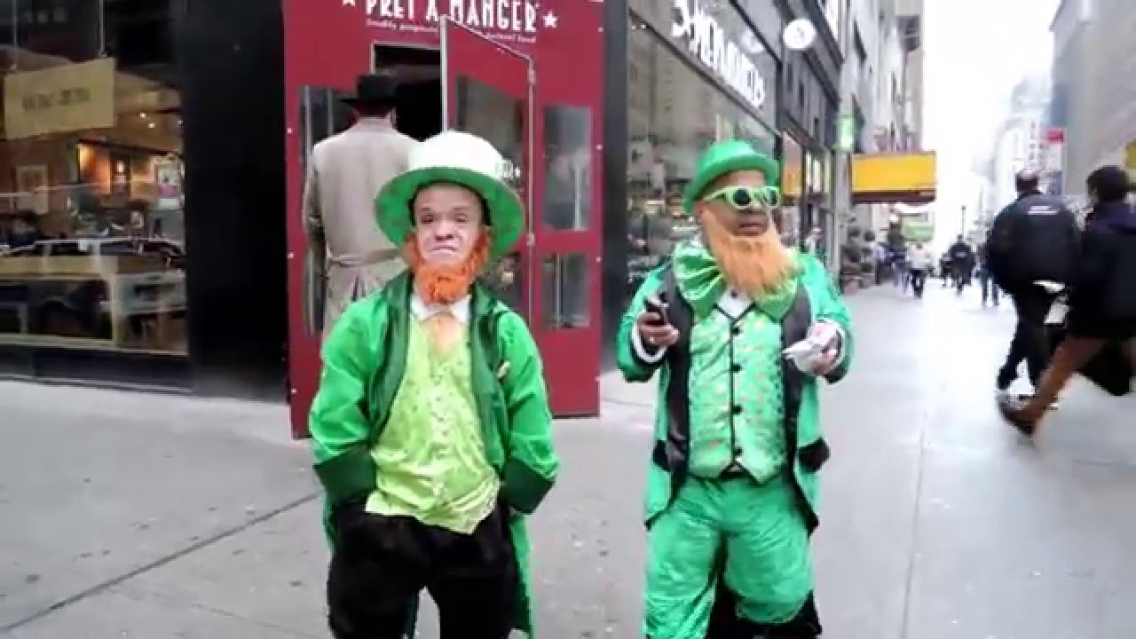 Midget mistaken for leprechan for