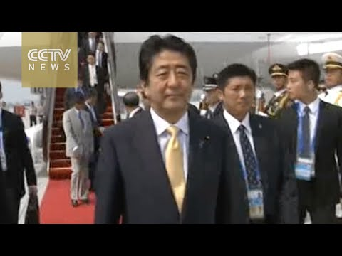 Japanese PM Shinzo Abe arrives in Hangzhou for G20 Summit