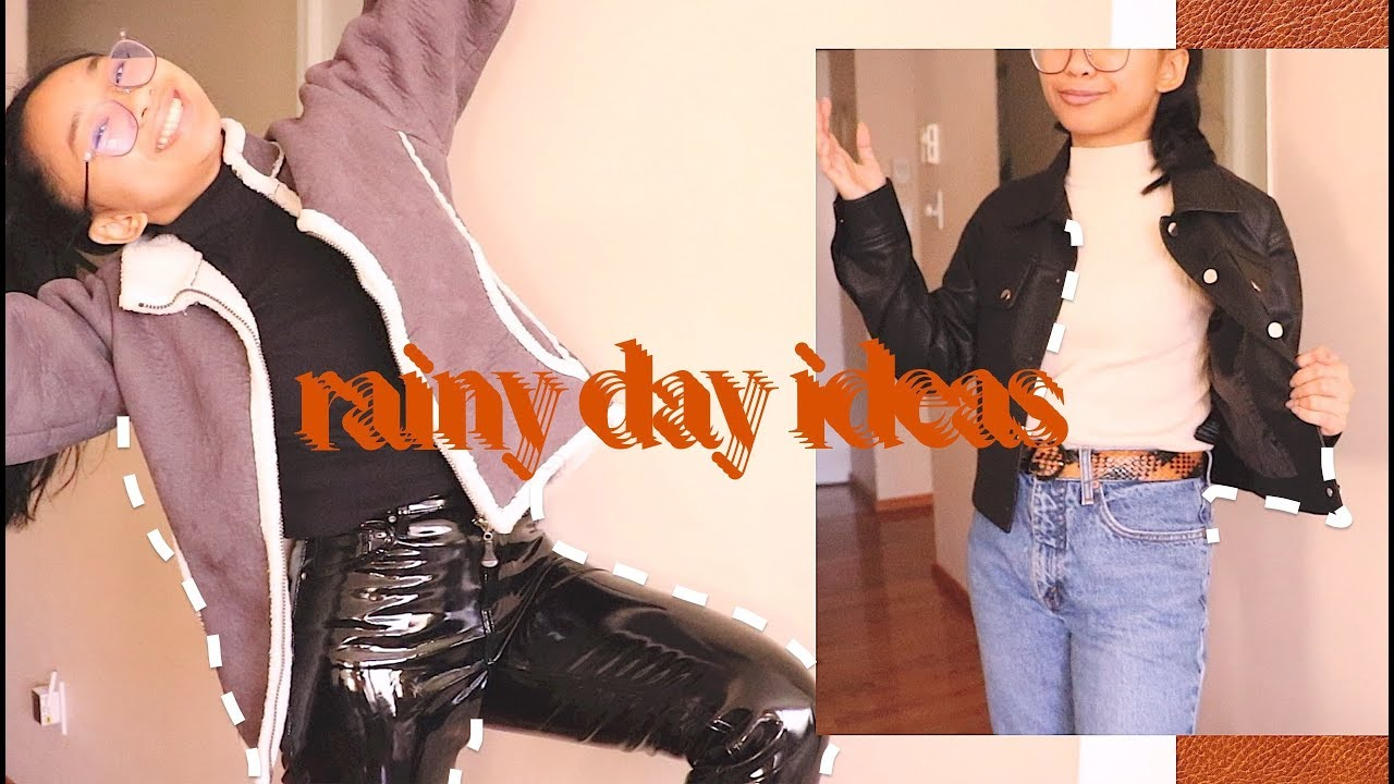 [VIDEO] - rainy day outfit ideas | it's time y'all 3