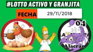 LOTTO ACTIVO DATOS FIJOS 29/11/18 ▶ Sr.Datero Activo