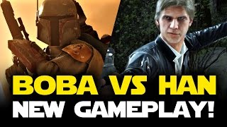 BOBA FETT vs HAN SOLO GAMEPLAY - Star Wars Battlefront Hero Battles Gameplay