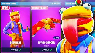 NEW BEEF BOSS *Durr Burger* SKIN Gameplay in Fortnite! - NEW Fortnite UPDATE! (Fortnite New Skin)