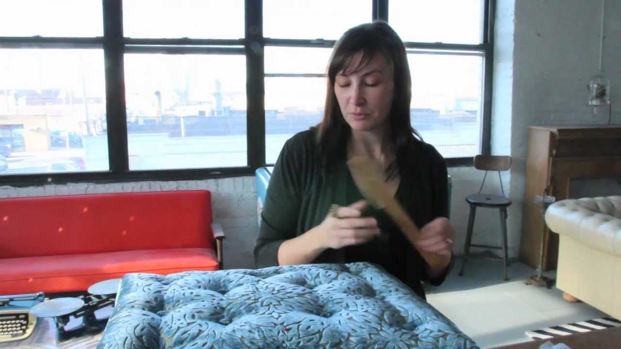 Krrb Presents A How To On Adding Buttons To Upholstery With Tufting