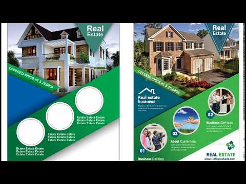 Real Estate flyer design template using coreldraw