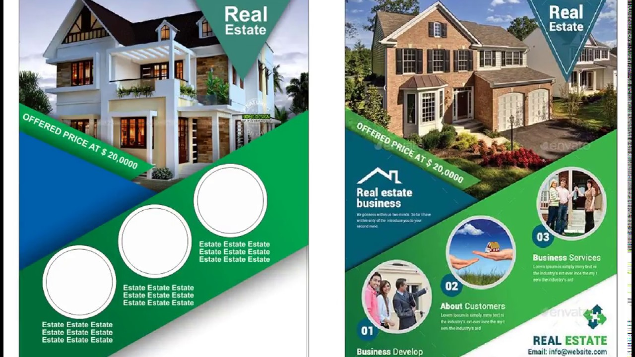 Real Estate Flyer Design Template Using Coreldraw Youtube