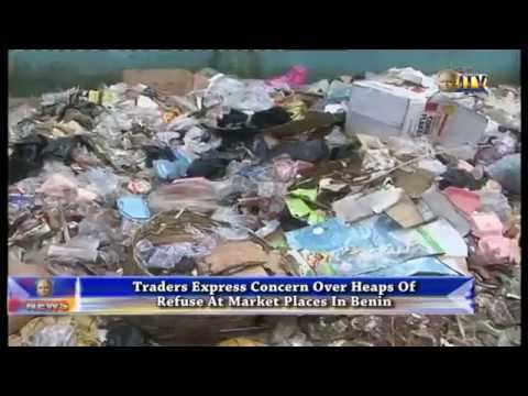 Traders express concern over heaps of refuse at market places in Benin