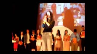 """Schulabschluß David (Abschlußlied """"Halleluja"""", gesungen von einer Mitschülerin)"""