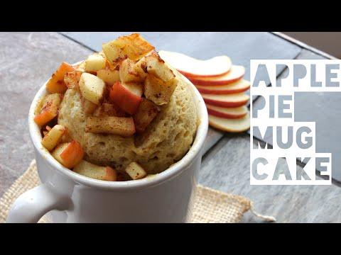 Healthy Mug Cake Recipe   How To Make A Healthy Low Fat Apple Pie Mug Cake