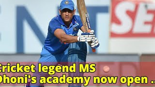 Cricket legend MS Dhoni's academy now open at St Patrick's School