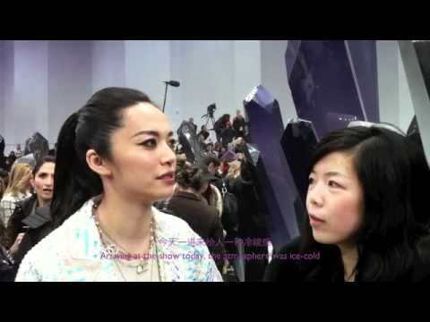 Yao Chen interview in Chanel show 2012