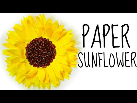 How to Make a Flower from Coffee Filters | DIY Paper Sunflower
